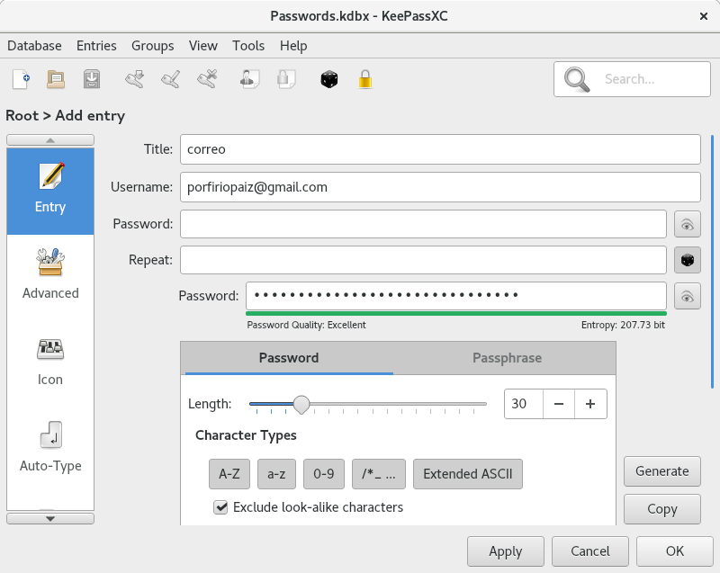porfirio's blog – KeePassXC, the password manager